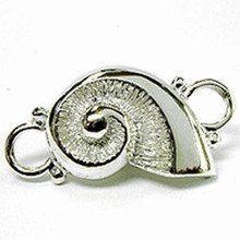 Convertible Sterling Silver Nautilus Clasp
