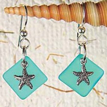 Starfish Seaglass Earrings