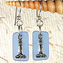 Lighthouse  Seaglass Earrings