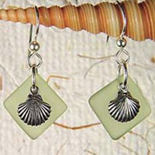 Scallop Seaglass Earrings
