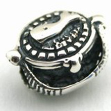 Sterling Silver Nantucket Basket Bead