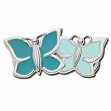 Convertible Sterling Silver and Enamel Butterfly's