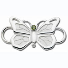 Convertible Sterling Silver, with Peridot  Butterfly  Clasp