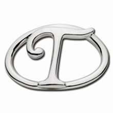 Convertible Sterling Silver T Initial Clasp