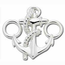Sterling Anchor and Nautical Rope Clasp