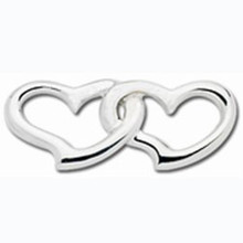 Convertible Sterling Silver Double Heart Clasp