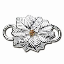 Convertible Sterling Silver and 14K Poinsettia