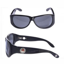 Kameleon Black Sunglasses With Swarovski Crystal Line Down Temple $89.00