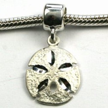 Sterling Silver Sand Dollar Dangle Charm