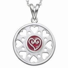 Kameleon Round Pendant With 8 Open Hearts