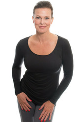 Black Modest Scoop, Long Sleeve