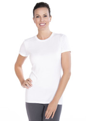 White Crew Neck Short Sleeve Top