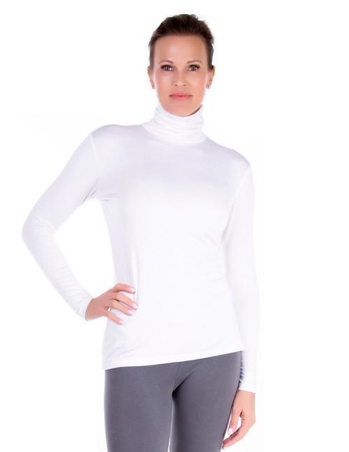 White Turtleneck, Long Sleeve