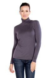 Slate Gray Turtleneck with Jeans