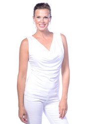 Droop Neck, Tank, White