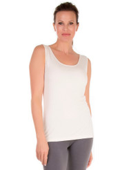 Ivory Scoop Neck Tank