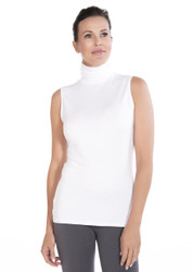 White Turtleneck Tank