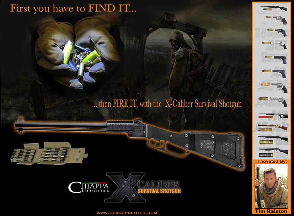 The Official Launch of the X Caliber Survival Shotgun - DBA- Gear Up