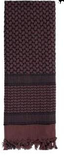 Shemagh Scarf Balck/ Brown