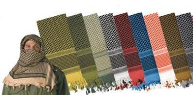 Gear Up Center Multi-colored Lightweight Shemaghs
