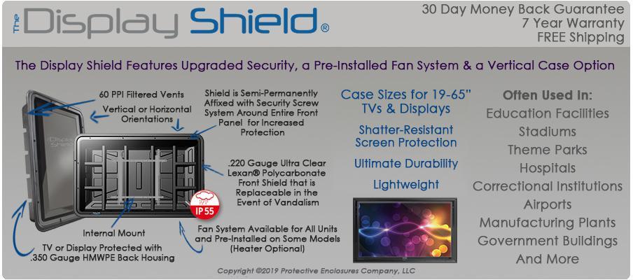 The Display Shield weatherproof digital display case