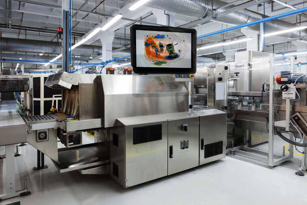 food processing tv display