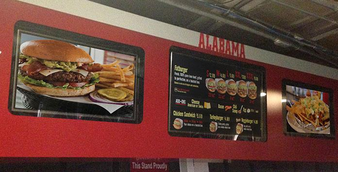 Outdoor Digital Signage at the University of Alabama