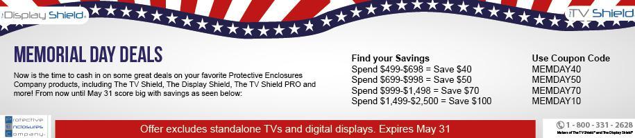 The TV Shield Memorial Day Sale