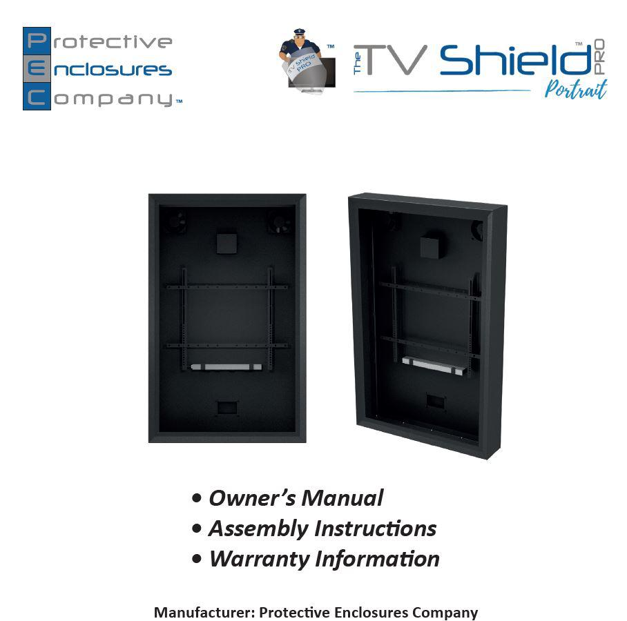 Outdoor digital signage cabinet for commercial locations, weatherproof TV cabinet