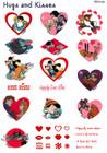 Brother Embroidery Card Hugs & Kisses SA-312D