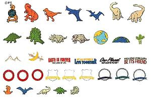 Brother Dinosaurus Embroidery Card SA-300
