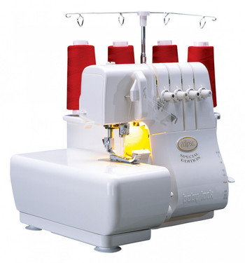 You'll view serging in a whole new light. This easy-to-use serger includes Jet-Air Threading, plus adjustable manual tensions that allow for perfect stitches on any type of fabric.