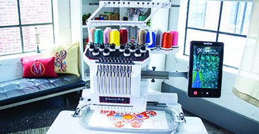 10-Needle Home Embroidery Machine