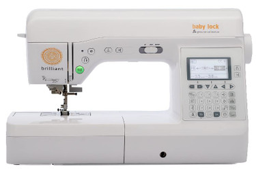 A sewing machine that's suited for any type of project? That's genuinely BRILLIANT! Part of the Baby Lock Genuine Collection, the Brilliant sewing machine is ready to handle anything from garments to home décor to quilts with ease. Plus, it's packed with plenty of stitches and helpful, easy-to-use features, making your next creation absolutely brilliant!  The Baby Lock Brilliant sewing machine's top features include:  190 built-in stitches including 10 one-step buttonholes Advanced needle threader LCD screen Push button features Knee lift Quick-set, drop-in bobbin Programmable stitch functions