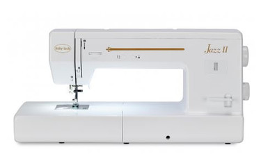 """You may think the Baby Lock Jazz II quilting and sewing machine is the same old song at first, but it gets into the groove with its own melody right away. The Jazz II comes with everything a quilter would want, plus the features you need on a utility stitch machine to get the job done – all at an affordable price!  The Baby Lock Jazz II quilting and sewing Machine features include:  Large 12"""" Workspace 28 Built-In Stitches Programmable Needle/Up Down 1,000 Stitches Per Minute Speed Built-In Needle Threader Hands-Free Presser Foot"""