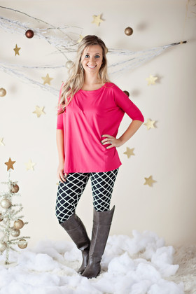 Mommy Black and White Lattice Leggings CLEARANCE