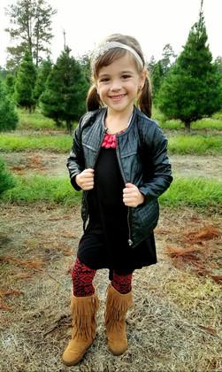 Girls Aviator Jacket Black CLEARANCE