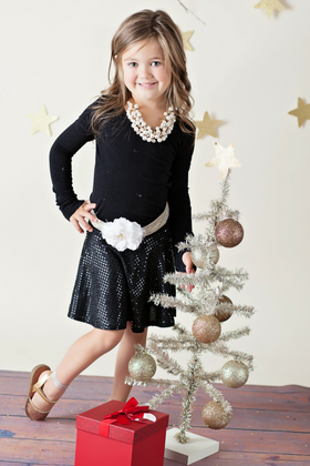 Girls Dance Black Sequin Skirt CLEARANCE