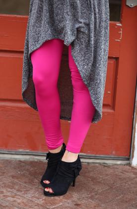 Mommy Fuchsia Fleece Lined Leggings CLEARANCE