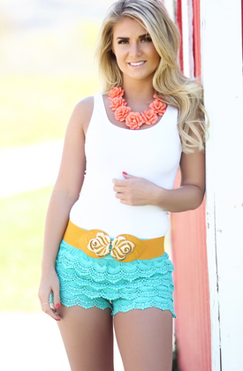 Mommy Vintage Lace Short Dark Mint CLEARANCE