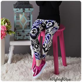 Girls Blue Teardrop Legging CLEARANCE