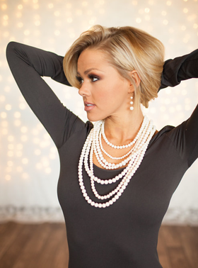 Layers and Dangles Pearl Necklace White