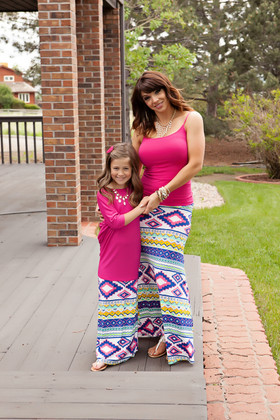 Mommy Multicolored Aztec Maxi Skirt CLEARANCE