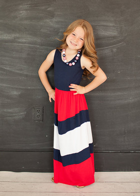 Girls Pretty Girl Maxi Red