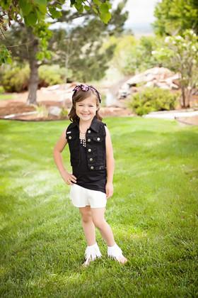 Girls Summer Fun Linen Short Ivory CLEARANCE