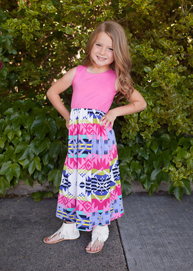 Girl's Girly Maxi Pink