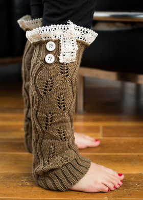 Girls Brown Leg Warmers CLEARANCE