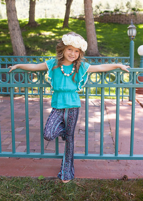 Girl's Paisley Flare Pants CLEARANCE