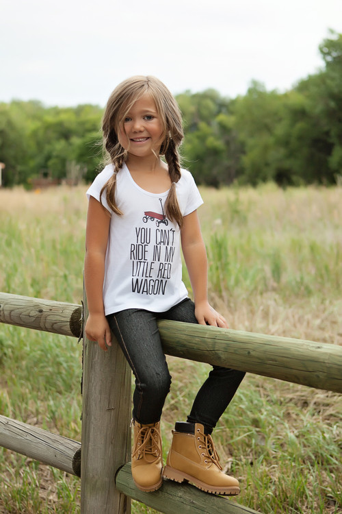 Girls Little Red Wagon Hi Low Tee - Ryleigh Rue Clothing ...