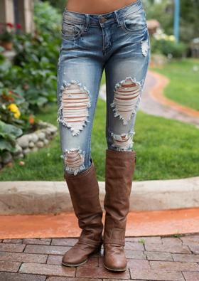 Mommy Selena Gomez Distressed Jeans
